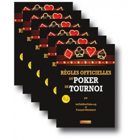 6 x Règles Officielles du Poker de Tournoi